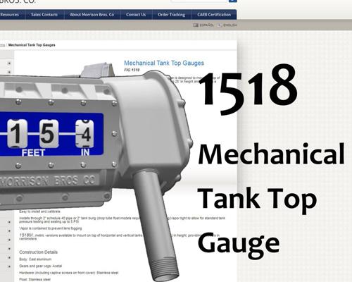 Image of 1518 Mechanical Tank Top Gauge