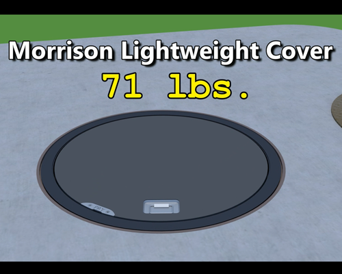 Image of 318LSR Lightweight Steel Replacement Manhole Cover & Adaptor